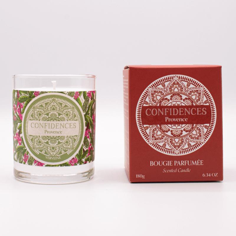 bougie parfumée verveine packaging