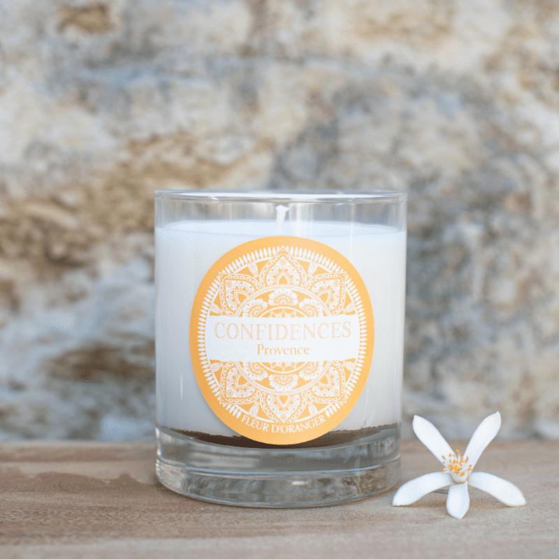 bougie artisanale fleur d'oranger