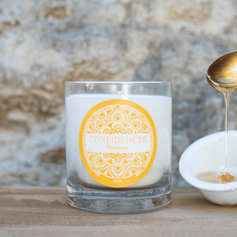 bougie artisanale miel de provence