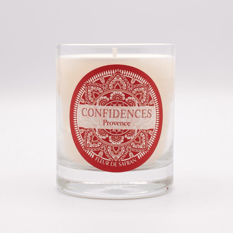 bougie parfumée cire végétale fleur de safran
