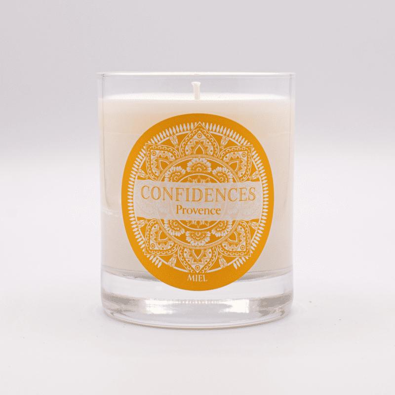 bougie parfumée miel