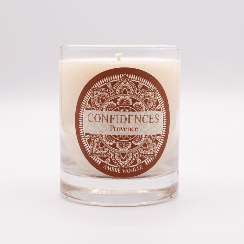 bougie parfumée ambre vanille