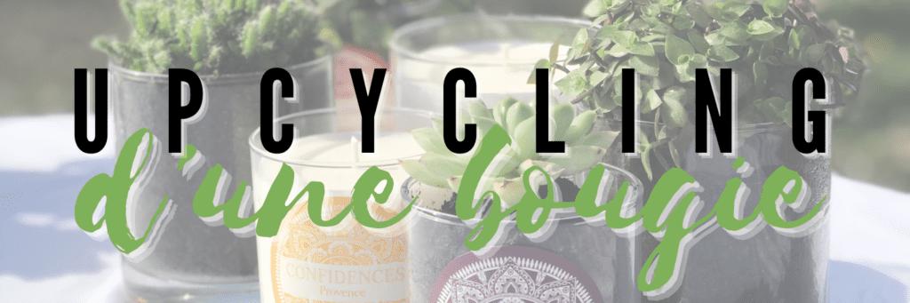 upcycling bougie parfumée