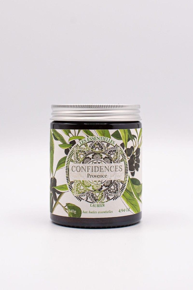 bougie parfumée huiles essentielles laurier