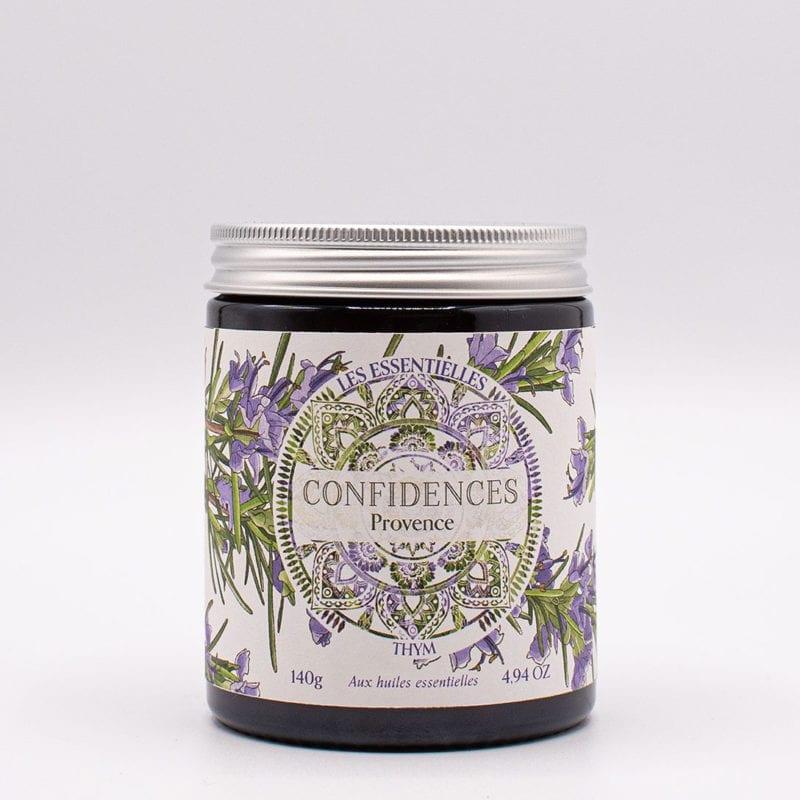 bougie parfumée huiles essentielles thym