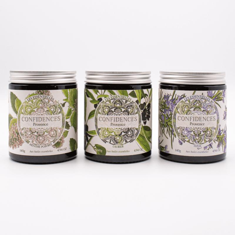 gamme bougie parfumée huiles essentielles