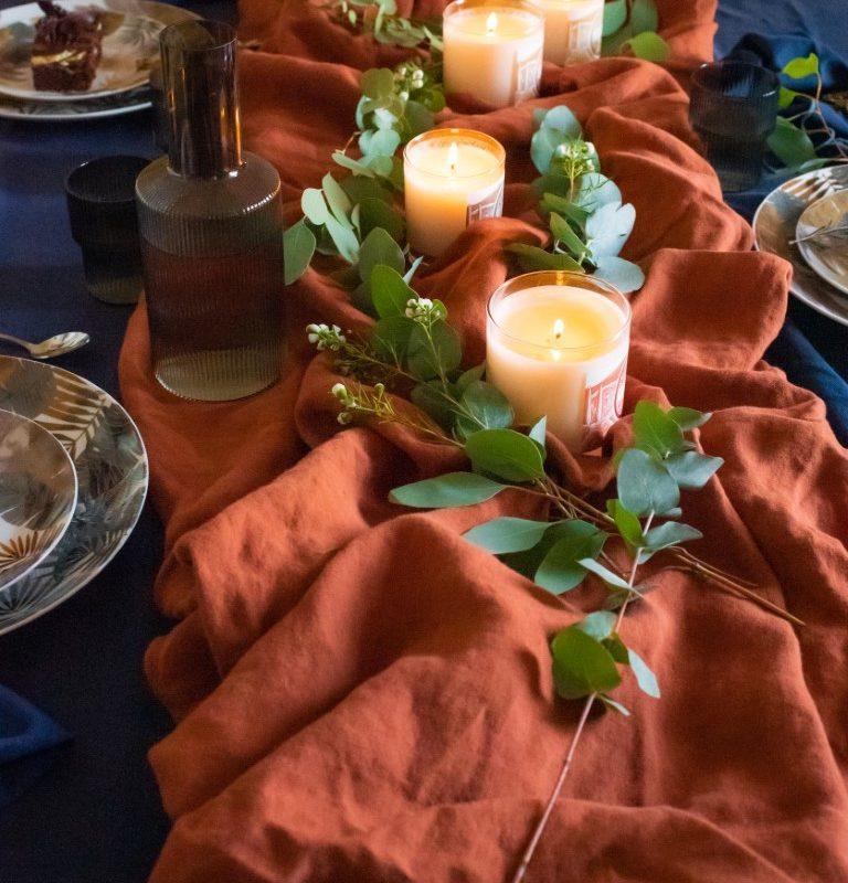 bougies sur table